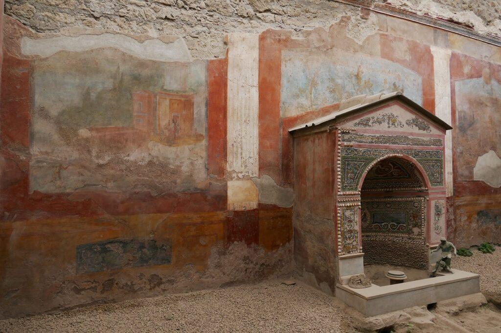 古代ローマ 住居内の神殿イメージ