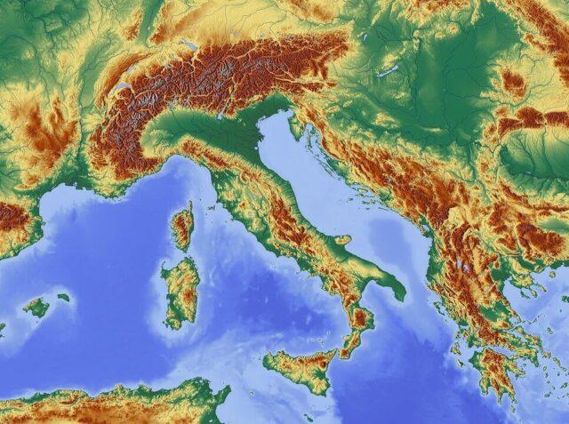 イタリアは山脈も多い!