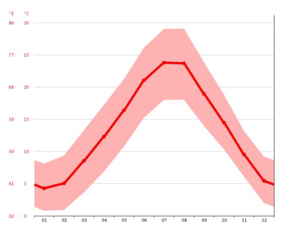 フィレンツェの年間平均気温