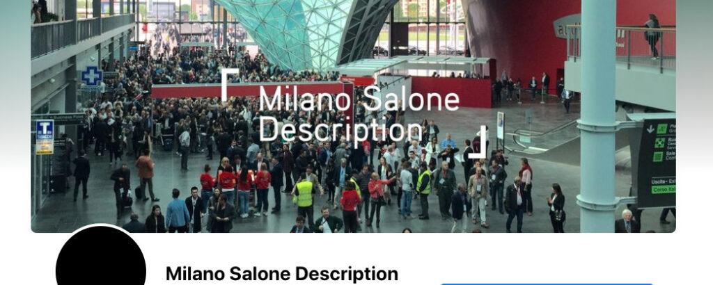 Milano Salone Description FBページ